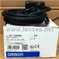 欧姆龙智能传感器内置放大器型激光位移传感器ZX1-LD50A61