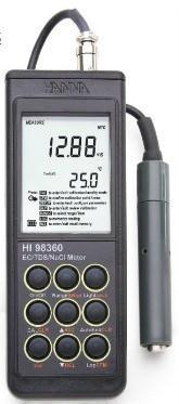 HI98360電導/總固體溶解度/氯化納/鹽度測試儀 HI98360