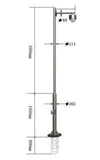 2米3米4米5米监控杆厂家 JKG