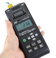 双通道温度记录仪 打印式温度计 列表式温度表可连电脑 TES-1305