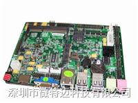 3.5寸無風扇Intel D425/D525集成DC電源雙VGA/6COM嵌入式主板(WTM-EV6)