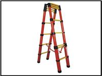 升降式红管玻璃钢绝缘人字梯 ST