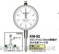 进口得乐TECLOCK指针式十分表KM-92范围0-20分度值0.1千分表百分表特价 KM-92