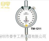 进口得乐TECLOCK指针式千分表TM-1211范围0-0.2分度值0.001百分表千分表特价 TM-1211