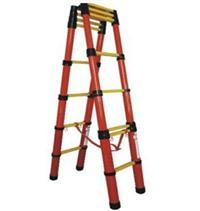 ST升降式红管玻璃钢绝缘人字梯 ST