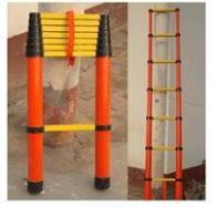 电工梯子厂家,1.5米悬挂绝缘梯,2米伸缩绝缘梯 ST