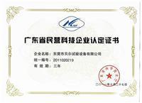 88必发1777_省民营科技企业证书