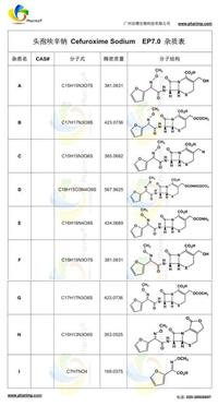 Cefuroxime Sodium头孢呋辛钠EP杂质对照品