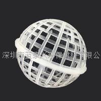 水处理塑料悬浮球内装纤维丝或海绵孔旋转球形悬浮填料生物膜水处理填料空心球 HF-SXFQ