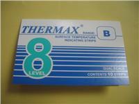 英国THERMAX温度试纸 温度变色纸 8格B型感温贴纸 英国TMC测温纸 8格B型