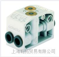 德国BURKERT0498可解锁的双止回阀,用于实现具有中间锁定位置的三位五通功能 0498
