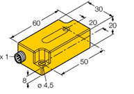 TURCK倾角传感器的技术特性 B1N360V-Q20L60-2LI2-H1151