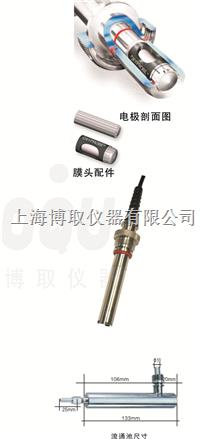 国产在线纯水溶氧电极,博取DOG-208F在线纯水氧电极,溶解氧传感器 DOG-208F