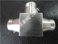 304不锈钢对焊式三通接头,对焊式三通中间接头,方体方形对焊式三通管接头 14MM,STS