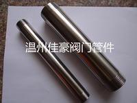 定做加工304/316不锈钢非标长度厚度的单双头内外丝螺纹短节短接短管 宝塔式皮管接头 ZG1/2 G3/4 1/2NPT L=100mm 304 316 L=150mm