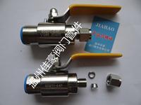 精品QG.QY1-16/25/64P PN63 G1/2-¢8 304SS不锈钢双卡套式/铜胀圈卡套式气源球阀 QG.QY1-64P G1/2-¢6