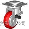 成都西野新产品重庆地区代理日本狮子吼SISIKU带旋转止动器的脚轮 LWJB-75