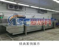 隧道式速凍機是完全基于操作快速、便捷的設計理念上制造而成的。隧道式速凍機的連續速凍模式,適用于工廠流水線大產量加工生產,速凍能力強、操作簡單、自動化程度高。