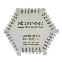 Elcometer 3236六角湿膜梳 Elcometer 3236六角湿膜梳