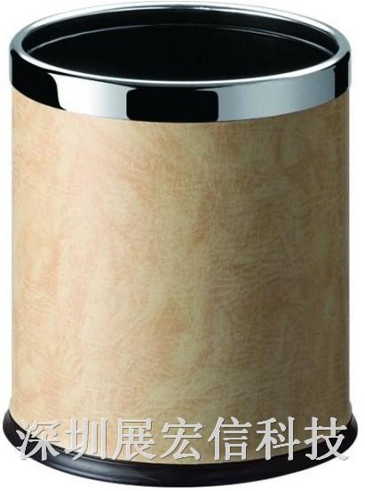圆形双层垃圾桶(人造皮)