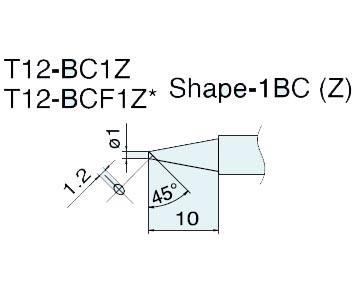 t12-bc1z电烙铁嘴 日本白光hakko焊咀 t12-bc1z