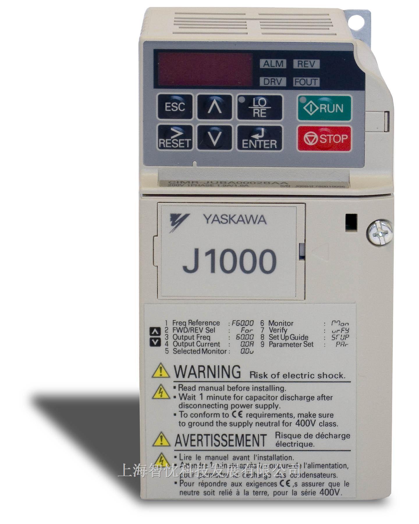 上海j1000系列安川变频器销售中心