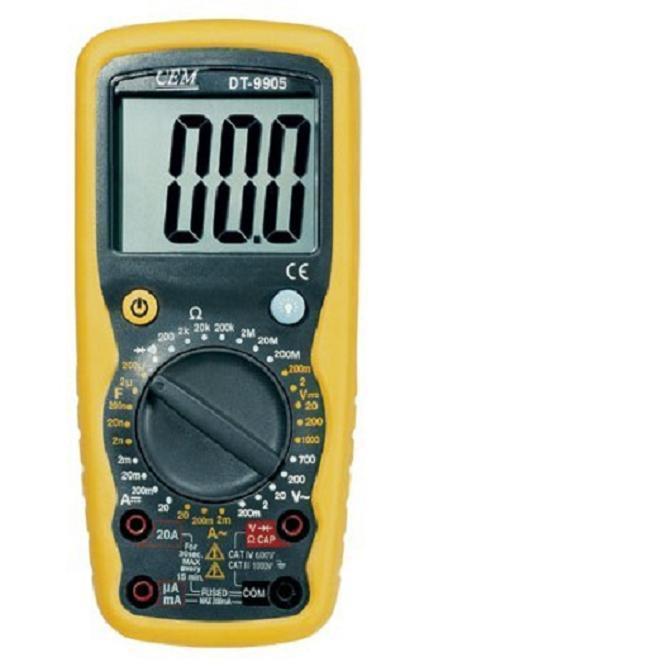 cem华盛昌dt-9905高性能高精确数字万用表dt9905双注塑带背光万用表