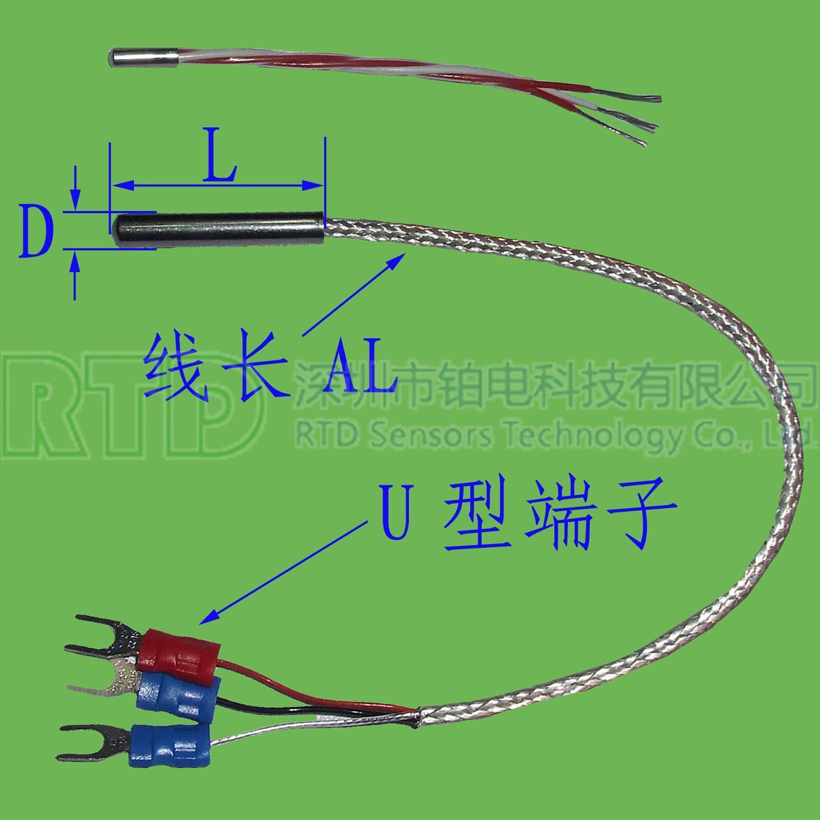 普通封装PT100热电阻