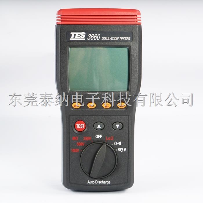 台湾泰仕TES-3660 绝缘电阻测试仪