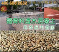 上海睿龙露骨料透水混凝土,海绵城市路面
